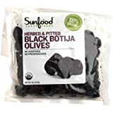 SunFood Organic Herbed Olives Pitted -- 8 oz