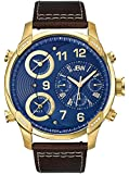 JBW Men's J6248LO G4 Analog Display Swiss Quartz Brown Watch