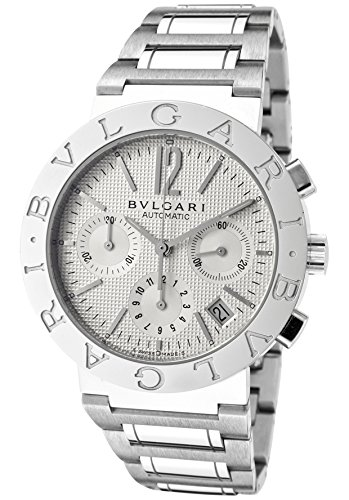 Men's Bulgari Bulgari Mechanical/Automatic Chronograph Off White Dial Stainless Steel
