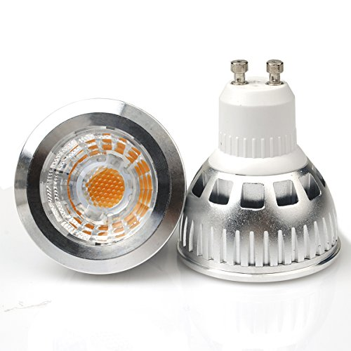 Jacky Led Gu10 6W Cob Led Lights Bulbs Lamp, 50W To 55W Equivalent, Warm White 3000K, Recessed Lighting, Led Spotlight, 550Lm