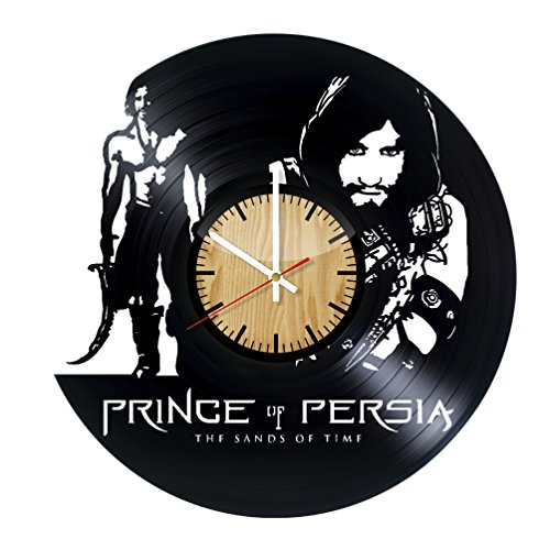 [Prince of Persia Forgotten Sands Vinyl Wall Clock - Get unique home wall decor - Gift ideas for girls, men and boys - Adventure Movie Unique Art Design - Leave us a feedback and win your custom] (Prince Of Persia Forgotten Sands Costumes)