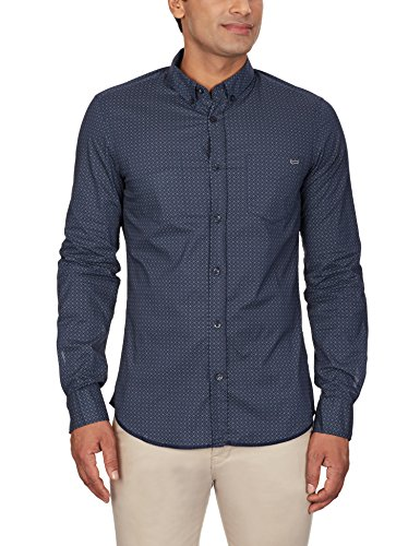 GAS Men's Casual Shirt (8059890929702_83609_Medium_538-Blue and Black)  available at amazon for Rs.2096