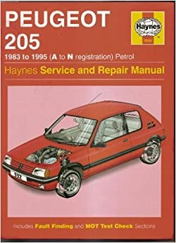 peugeot 205 service and repair manual haynes service and. Black Bedroom Furniture Sets. Home Design Ideas