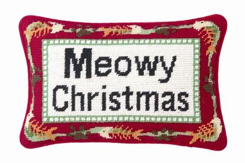 16 x 16 Kess InHouse Robin Dickinson Merry Christmas Throw Pillow Green