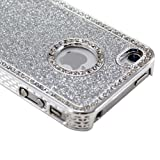 Sliver Luxury Bling Glitter Diamond Chrome Rhinestone Hard Case for iPhone 4 4G 4S
