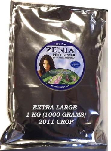 1KG (1000g) Pure Indigo Powder for Hair BAQ Indigoferra