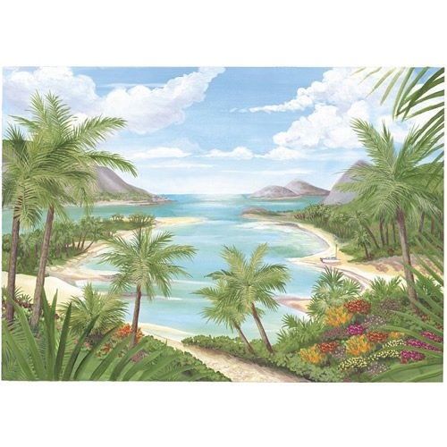 Buy Tropical Beach Wallpaper Mural, 90