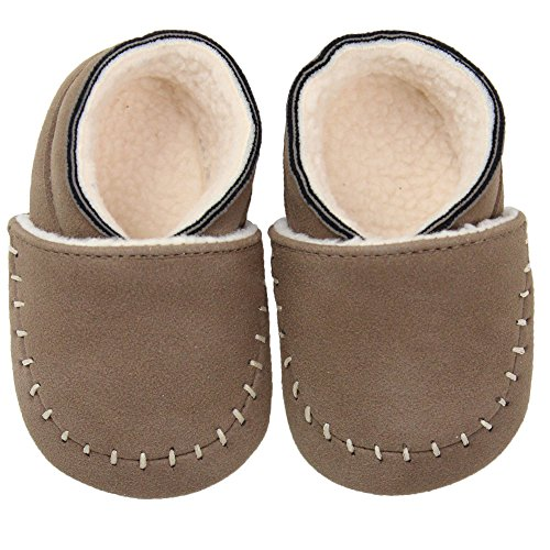 JuDanzy Infant Boys Infant Synthetic Leather Slip Shoes