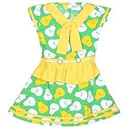 Rush Me Baby Girls' Dress (S.R.2018_2 Years, 2 Years, Green)