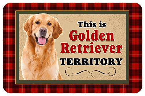 Novelty Dog Territory Mat, 18 by 27-Inch, Golden Retriever