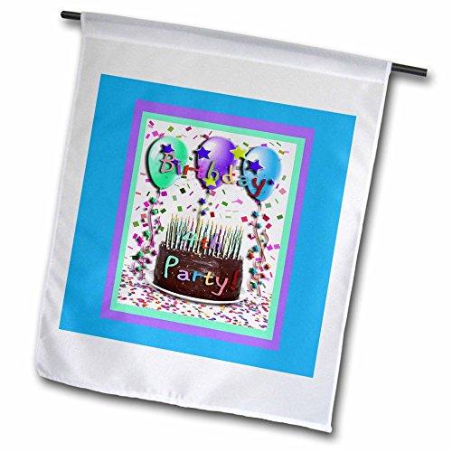 3dRose fl_20796_1 4th Birthday Party invitation Chocolate ...