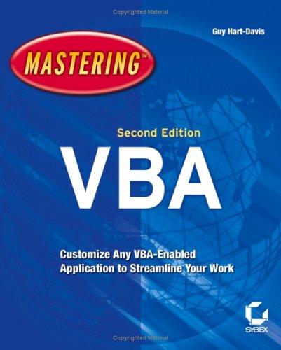 Mastering VBA