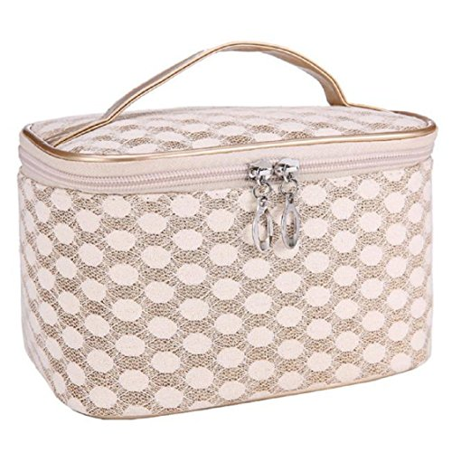 Vovotrade Cosmetic Bag Quartet Dot Gauze Portable (Or)