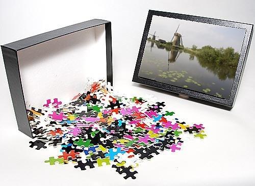 Photo Jigsaw Puzzle Of Kinderdijk Windmills, Holland, Europe