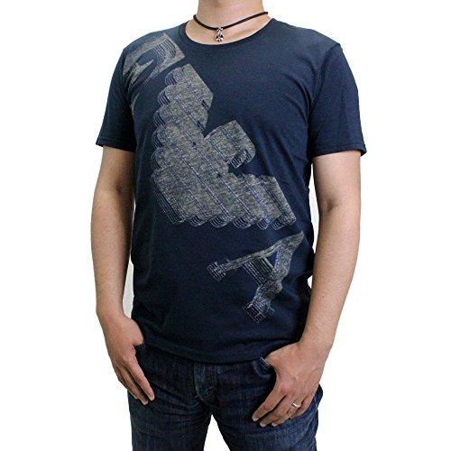 EMPORIO ARMANI (エンポリオ アルマーニ) 【メンズ】 クルーネック半袖Tシャツ 男性 肌着 インナー ストレッチ シャツ ビッグ イーグル クルーネック 半袖 Tシャツ BIG EAGLE STRETCH TEE (MARINE マリン) 211123-5P458-00135