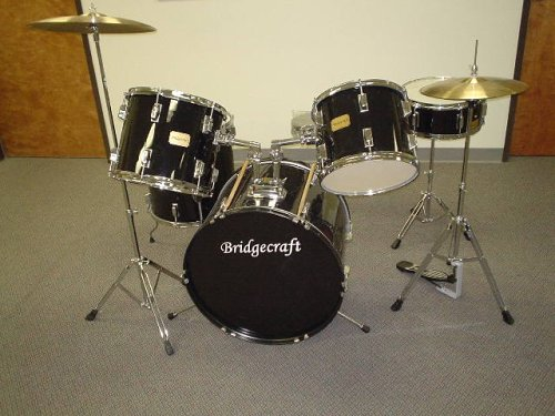 Cheap Beginner Kits: Bridgecraft/Derosa 5 Pc Drum Set with Cymbals ...
