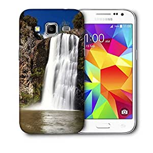 Snoogg White Waterfall Printed Protective Phone Back Case Cover For Samsung Galaxy Core Plus G3500