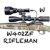 Wicked Lights W402ZF Rifleman Kit with White LED for Predator & Hog Night Hunting complete light kit