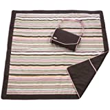 JJ Cole Essentials Blanket - Khaki/Pink ~ JJ Cole