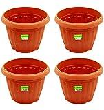 Plastic Plant Container - Nanson-OP0048-4-Brown