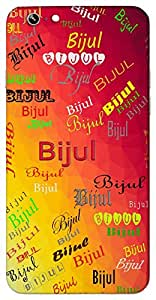Bijul (Flashes of Lightning) Name & Sign Printed All over customize & Personalized!! Protective back cover for your Smart Phone : Apple iPhone 6
