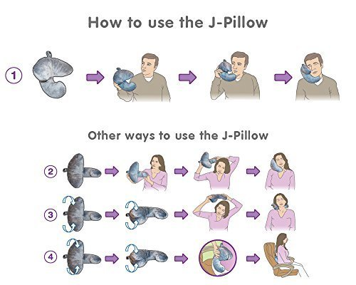 J-pillow Travel Pillow - Head, Chin and Neck Support - British Invention of the Year 2013.