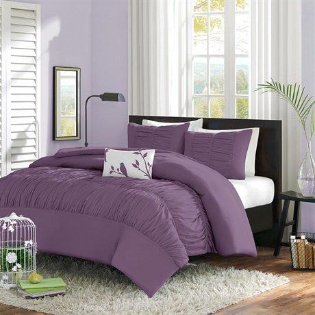 Mizone Mirimar Duvet Cover Set - Purple - Full/Queen front-1052119