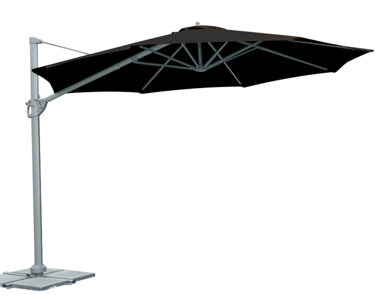 siena garden 839209 ampelschirm montego bezug schwarz gestell graphit 350 cm g nstig kaufen. Black Bedroom Furniture Sets. Home Design Ideas
