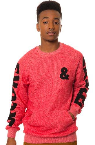 New CROOKS /& CASTLES red sweatshirt pull over shirt men sz medium or large
