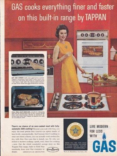 American Gas Association Tappan Built-In Range 1962 Vintage Antique Advertisement front-38668