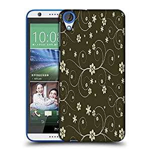 Snoogg Cream Flower Designer Protective Phone Back Case Cover For HTC Desire 820