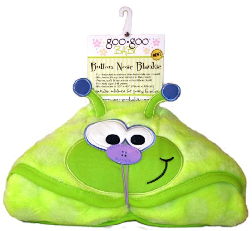 Goo-Goo Baby Large Plush Hooded Button Nose Blanket