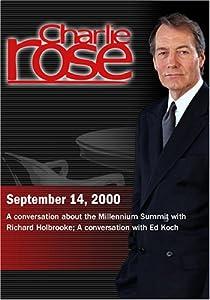Charlie Rose with Richard Holbrooke; Ed Koch (September 14, 2000)