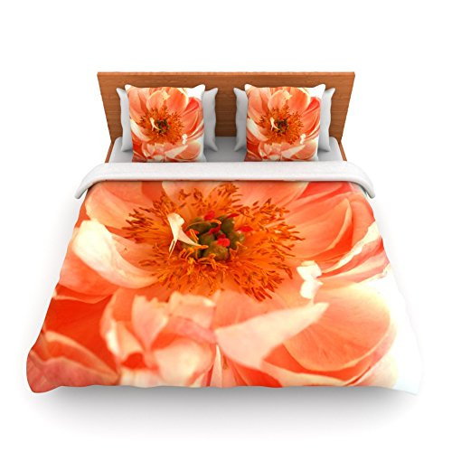 Coral Duvet Cover Queen front-1036465