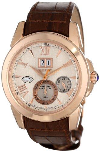 Seiko Men's SNP068 Analog Display Japanese Quartz Brown Watch