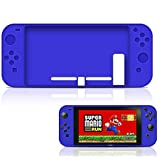 Nintendo Switch Surround Silicone Full Body Case, Soft Anti-slip Silicone Cover Skins Protective Case for Nintendo Switch 2017 (Blue)