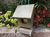 Vogelfutterstation-BEL-X-VOFU1K-grau002 PREMIUM Vogelhaus Vogelfutterhaus hell grau weiss silbergrau Überwinterung Nest, als Ergänzung zum Meisen Nistkasten Meisenkasten oder zum Insektenhotel, Futterstelle Futterstation für Vögel, alle Vogelhäuser und Vogelfutterhäuser von BEL zum Hängen und zum Aufstellen