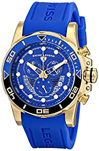 Swiss Legend Men's 21368-YG-03 Avalanche Analog Display Swiss Quartz Blue Watch