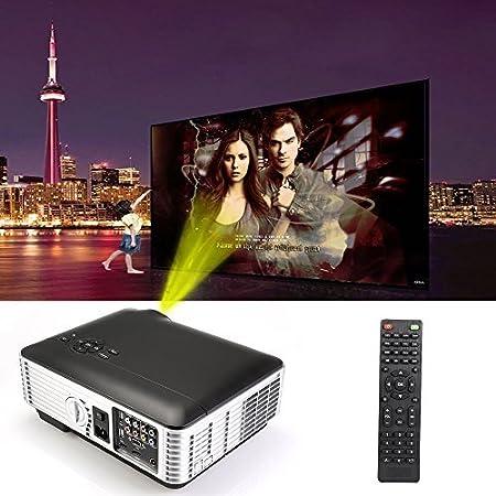 Flylinktech 2*HDMI 2*USB RD-806A Vidéoprojecteur Multimédia HD Projecteur Vidéo 1280*800 Résolution 2800 Lumens Contraste 1,500:1 Avec Interface D'entrée HDMI/ TV/ AV / VGA / YPbPr/ USB Pour Home Cinéma
