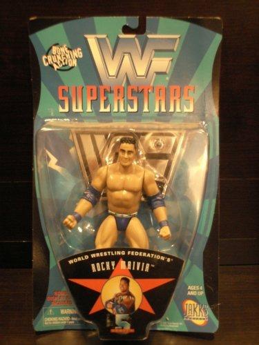 "WWE WWF Superstars Series 5 - Rocky Maivia ""The Rock"" Wrestling Figure (1997) by Jakks Pacific"