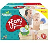 Pampers Easy Up Pants (Size 5: 12-18 Kg) - 1 Mega Box Containing 84 Nappies