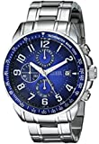 GUESS Men's U15072G2 Stainless Steel Sport Ready Chronograph Watch with Blue Dial
