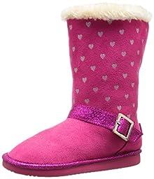 OshKosh B\'Gosh Iris G Polka Dot Sherpa Boot (Toddler/Little Kid), Pink, 5 M US Toddler