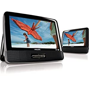 Philips PD9012/37 9Inch LCD Dual Screen Portable DVD