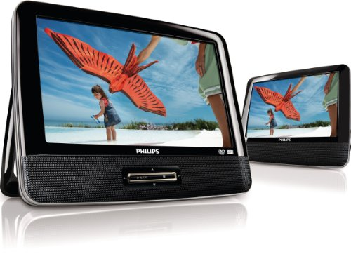 Philips PD9012/37 9 -Inch LCD Dual Screens Portable DVD Player (Black)