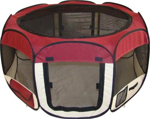 Best Pet Folding Play Pen – M – Burgundy