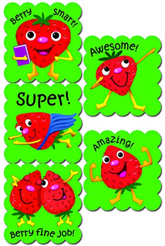 Creative Teaching Press Cartoon Fruit Scratch 'n Sniff Stickers, Strawberry (4599) - 1