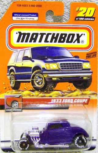Matchbox 1999 Series Issue # 20/100 1933 Ford Coupe -1/64 Scale - 1