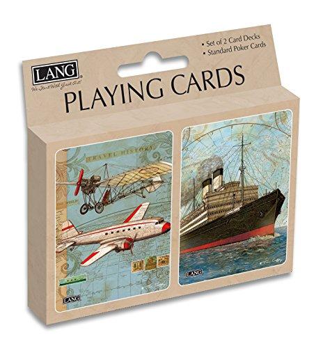 Lang Vintage Travel Playing Cards by Tim Coffey (Set of 2) - 1