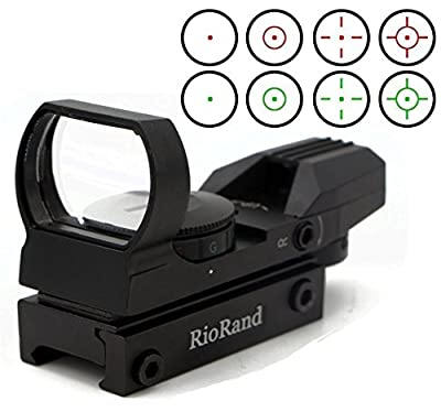 RioRand Red and Green Reflex Sight with 4 Reticles from RioRand